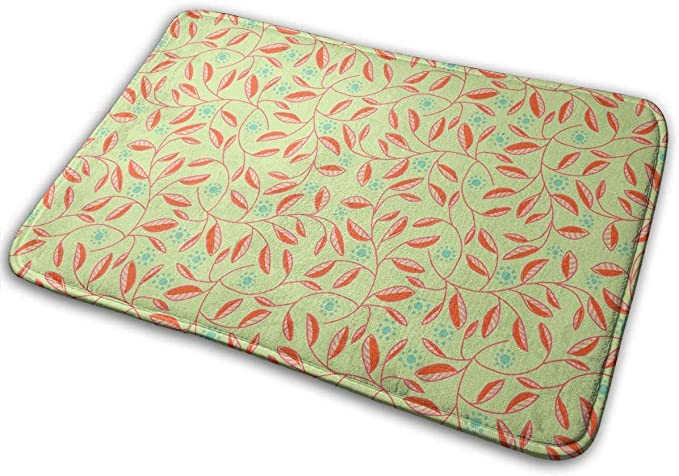 "Image ofBLSYP Felpudo Sun Leaves Doormat Anti-Slip House Garden Gate Carpet Door Mat Floor Pads 15.8"" X 23.6"""