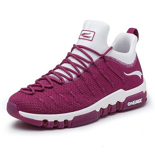ONEMIX Herren Damen Air Laufschuhe 2019 Fitness Luft Sportschuhe Runners Sneakers Schwarz