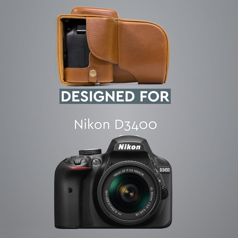 MegaGear Ever Ready MG858 Estuche de Cuero para cámara Nikon ...