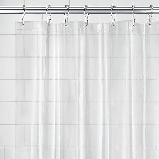 InterDesign Chevron Shower Curtain 54x78 Inch Gray And Aruba 43093