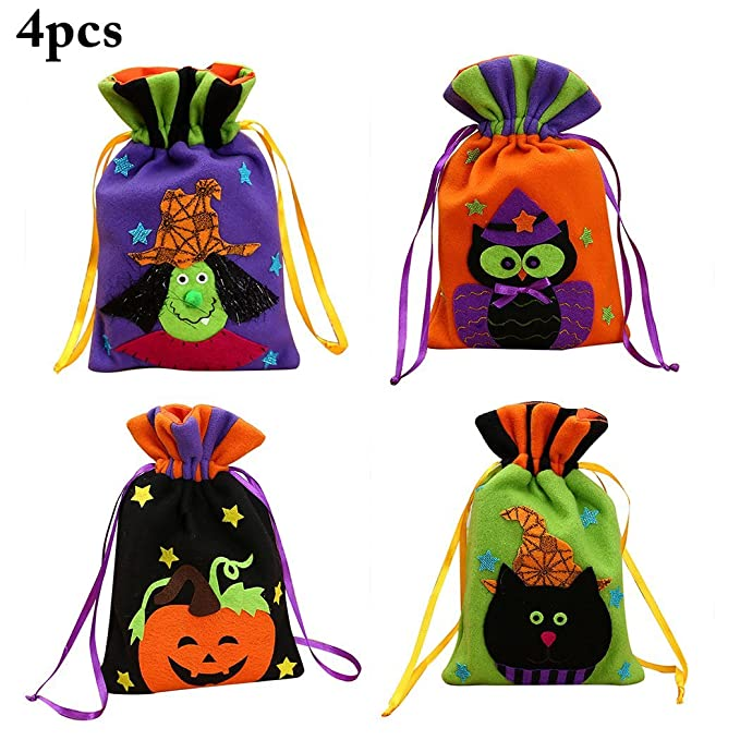 Amazon.com: Funpa Halloween Bolsa de regalo de caramelo ...