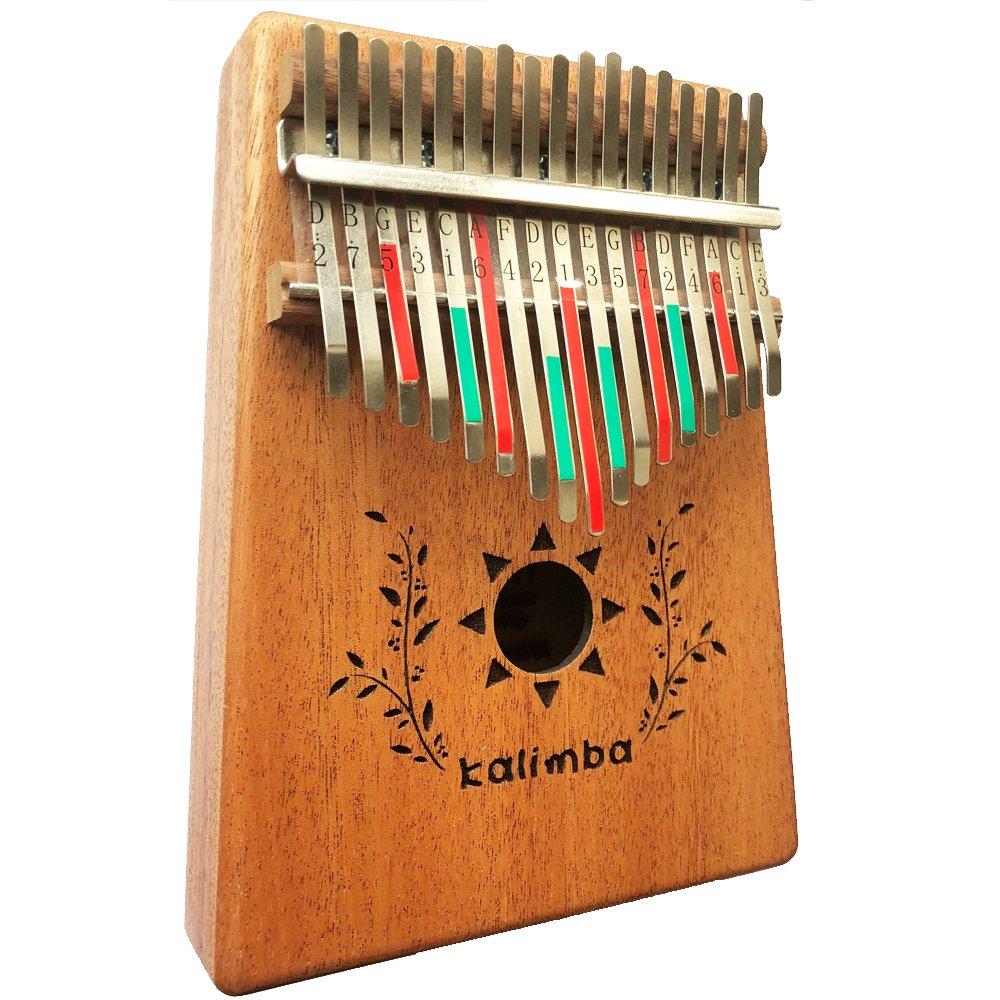 Luvay Kalimba 17 key Thumb Piano, Solid Mahogany Body …