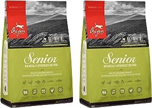 ORIJEN Senior Dry Dog Food, Grain Free, High Protein, Fresh and Raw Animal Ingredients