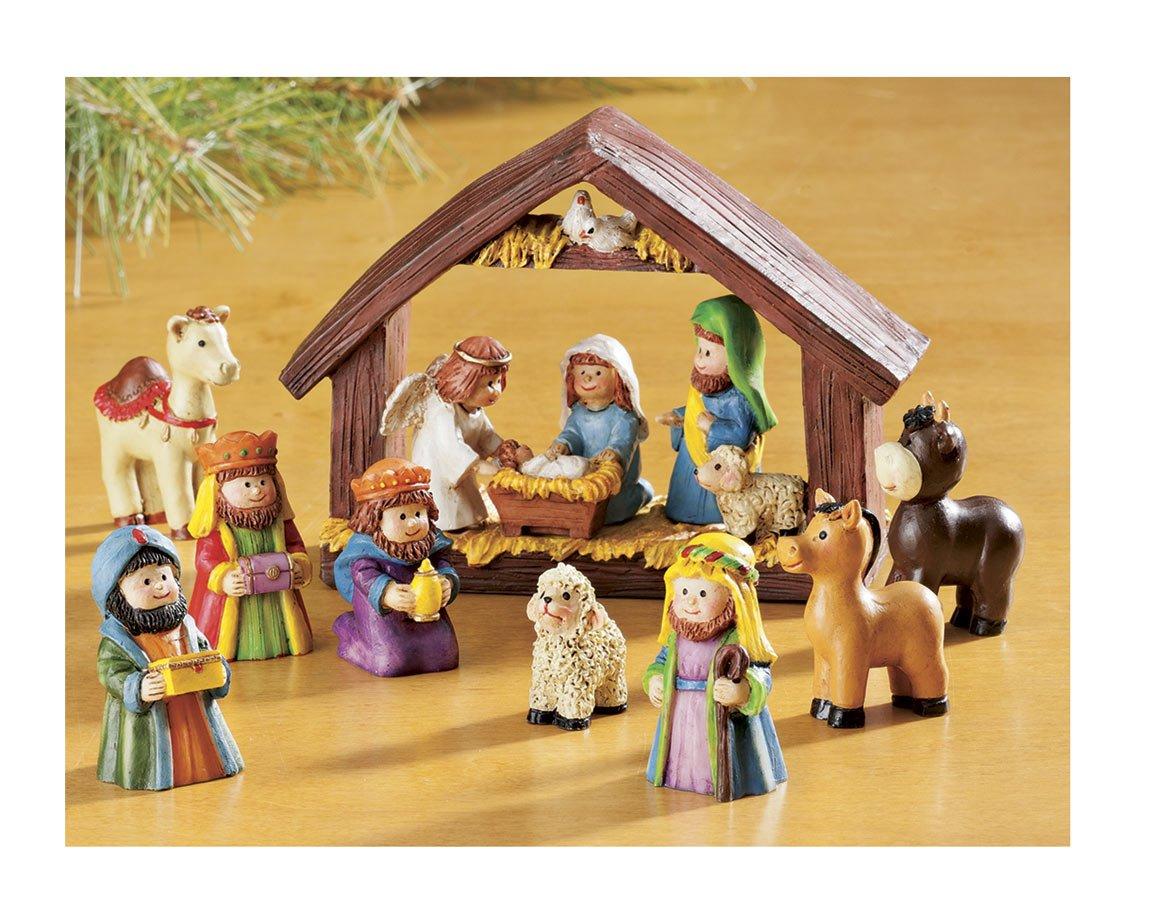 WalterDrake Resin Tabletop Nativity Set Scene