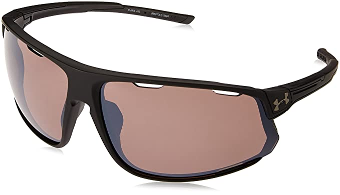 f5dc16d28f5e Under Armour UA Strive Wrap Sunglasses, UA Strive Satin Black/Black/Road,  l: Amazon.co.uk: Clothing