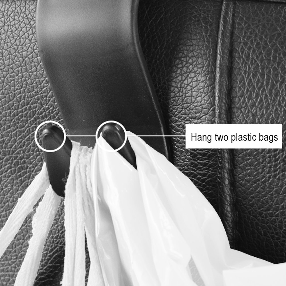 IPELY IPELY-HOOK4 Car Suv Back Seat Headrest Hanger Storage Hooks Black -Set of 4