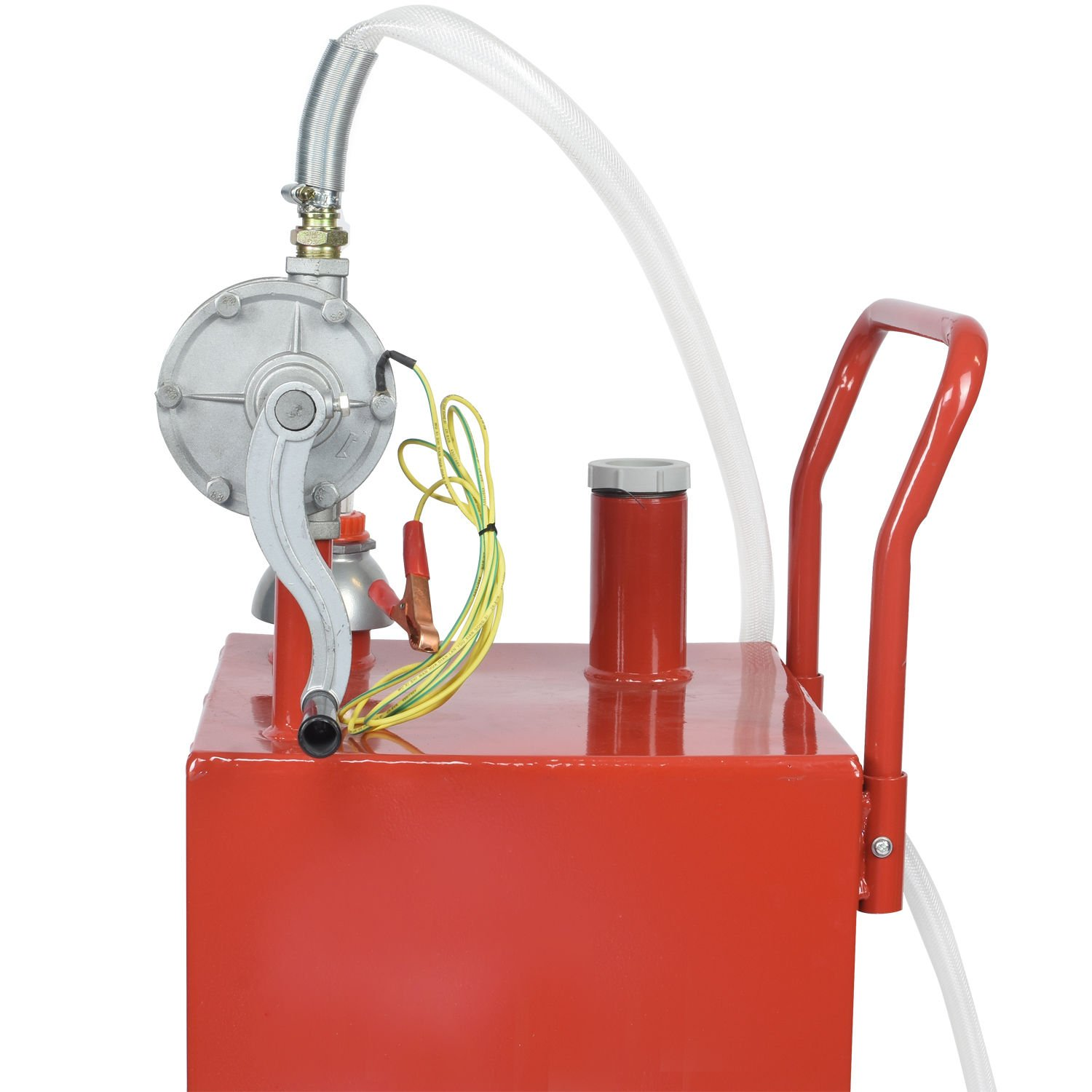 30 Gallon Gas Fuel Diesel Caddy Transfer Tank Container w/ Rotary Pump Tool by Wang Tong Shop (Image #4)