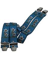Hosenträger mit 4 extra starken Clips Edelweiß 6 Farben!