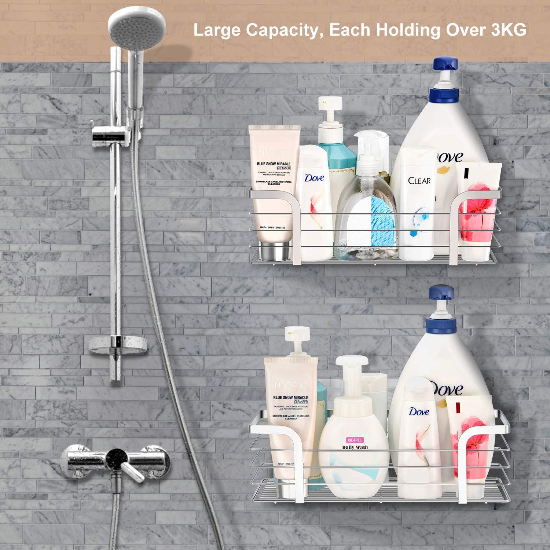 and Soap set of 2 Conditioner Bath Organiser Kitchen Storage Basket for Shampoo Shower Accessory SUS 304 Stainless Steel Essentials Bath Shower Caddy UMI