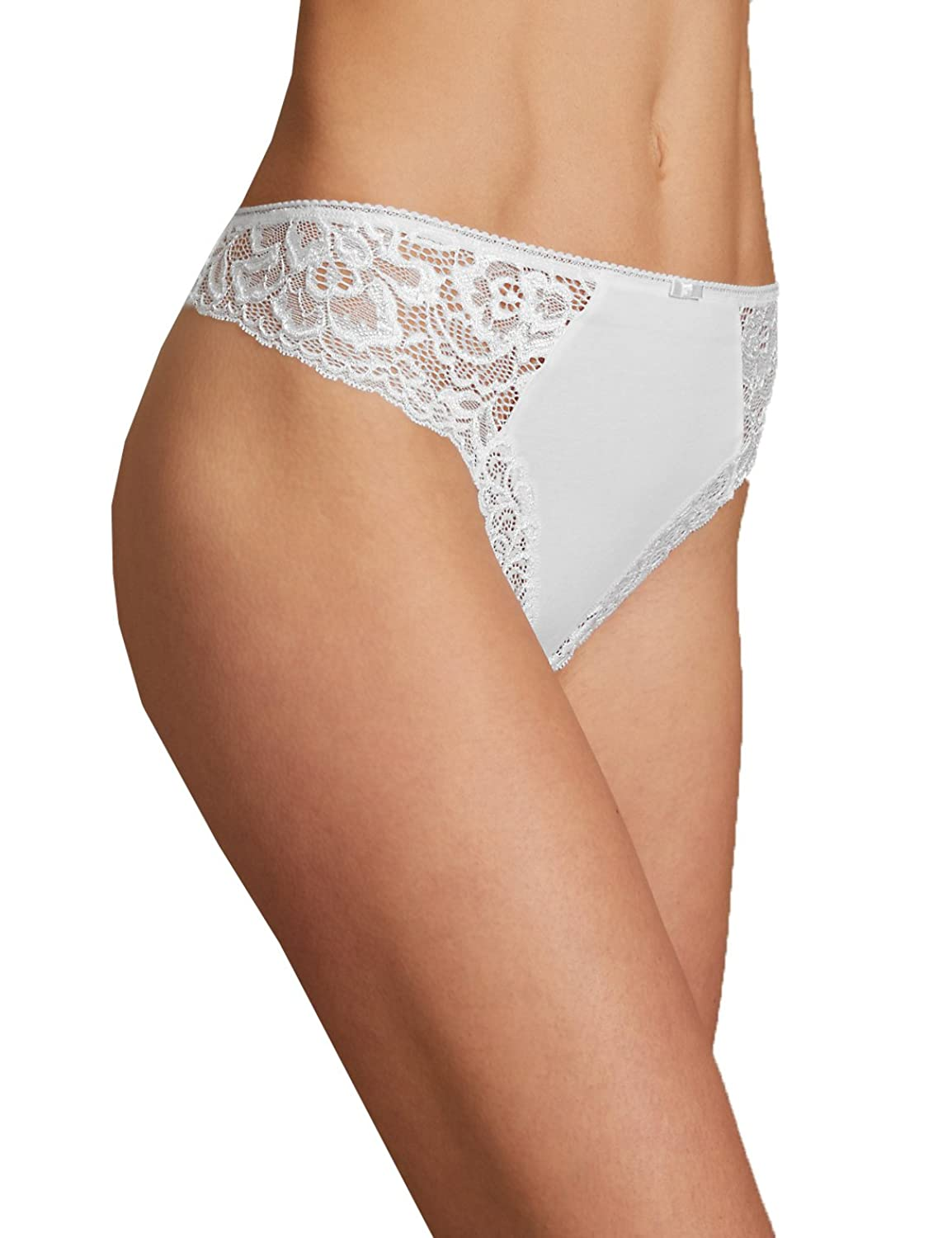 M/&S Marks and Spencer Brazilian Rio Sweetheart all over lace Knickers Size 10