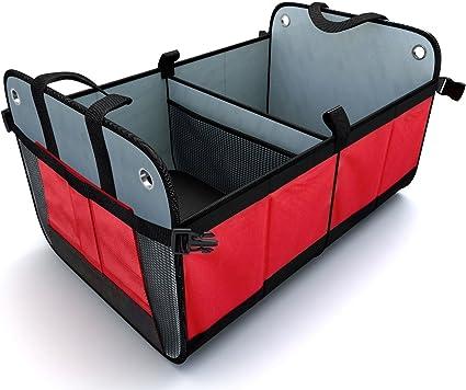Amazon.es: Organizador para el maletero del coche Caja de Almacenamiento (Plegable) ayuda a organizar tu maletero Maletero del Coche Bolsa de Almacenamiento rodapiés para prevenir colapsos