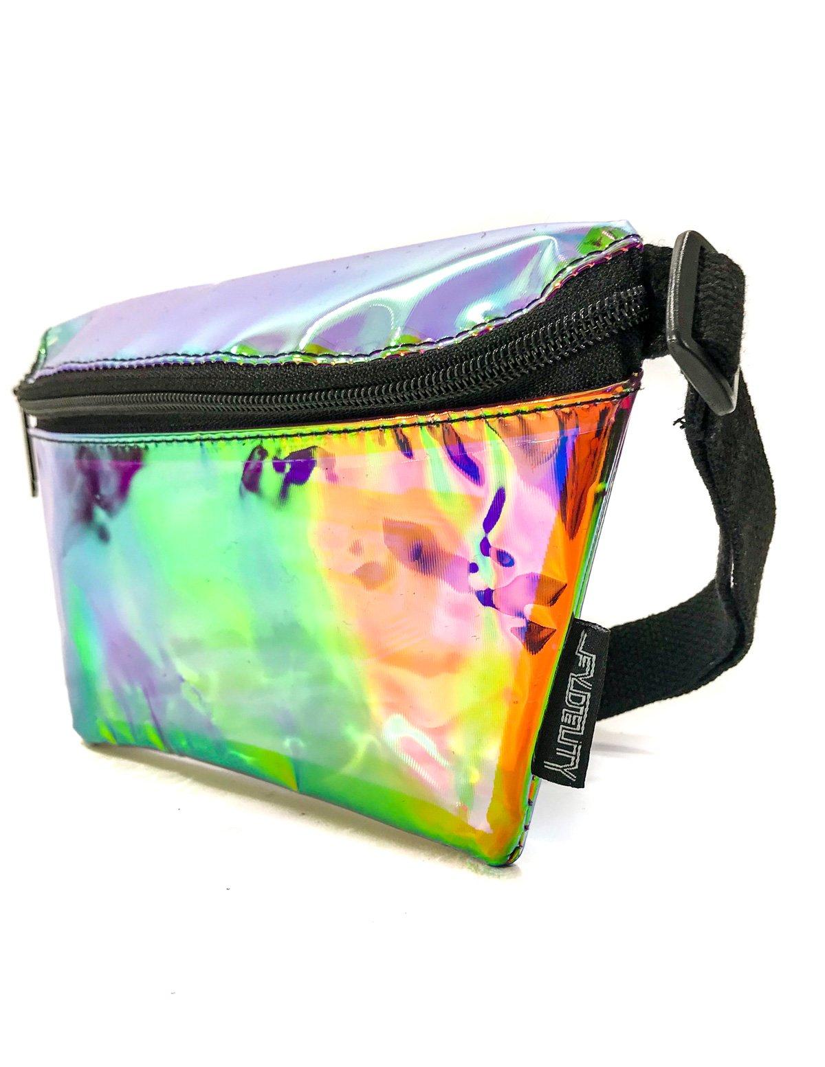 FYDELITY- Ultra-Slim Fanny Pack: PLASMA ELECTRO PURPLE | Transparent, Translucent, Iridescent, Holographic, Clear, Rainbow, Rave, EDM