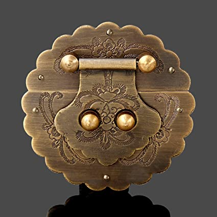 Amazon.com: Wall of Dragon Antique Chinese Furniture Hardware Brass Trunk Handle Lock Hasp Jewelry Wooden Box Locking Buckle Hasp Lock Latch for Furniture: Furniture & Decor