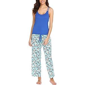 Ekouaer Womens Nightshirts Viscose Chemises Slip Long Nightgown Sleepwear S-XXL