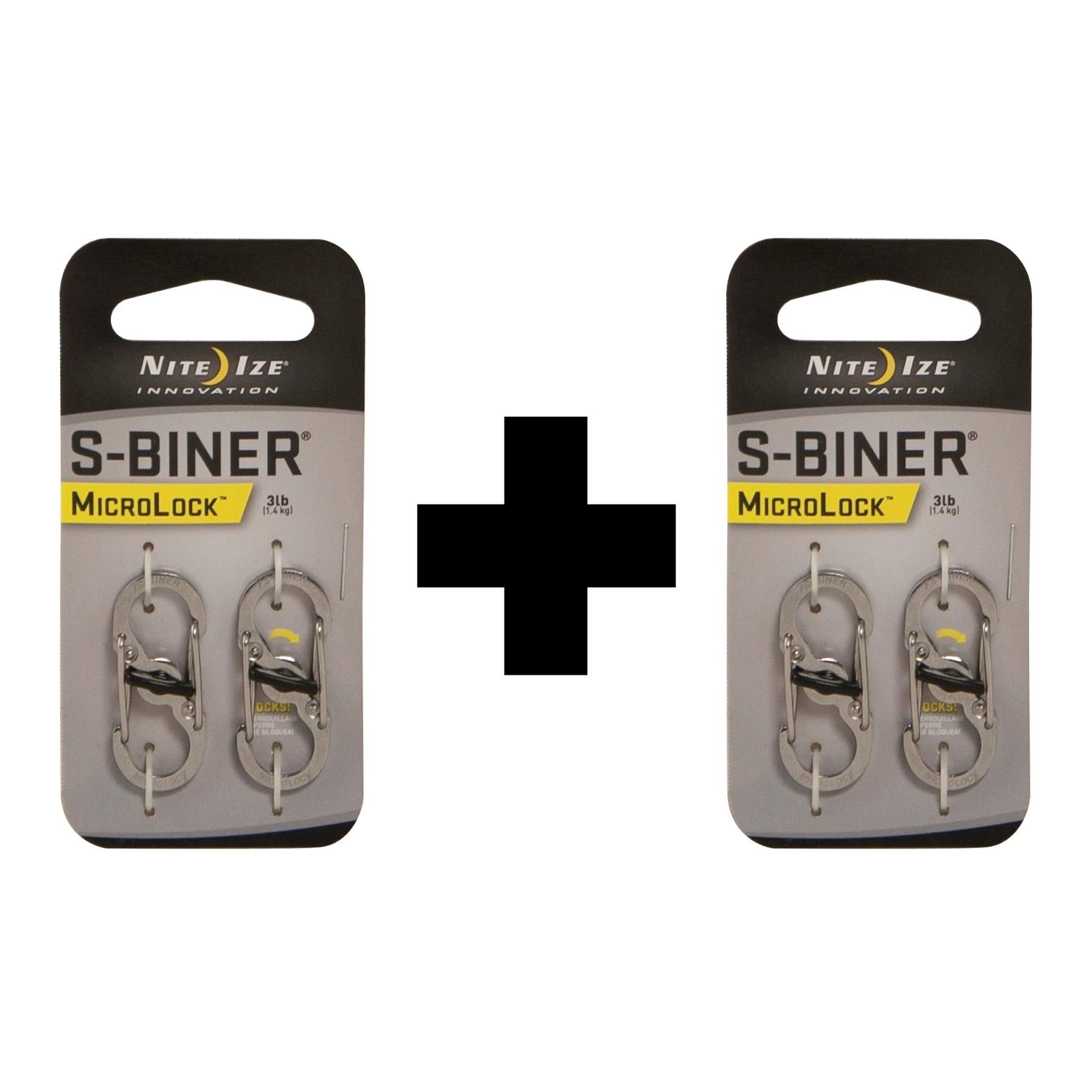 MicroLock Steel S-Biner 2 Pack Color:Silver Size:Pack of 2 by Nite Ize