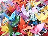 Hangnuo 50 PCS Origami Paper Cranes Folded DIY