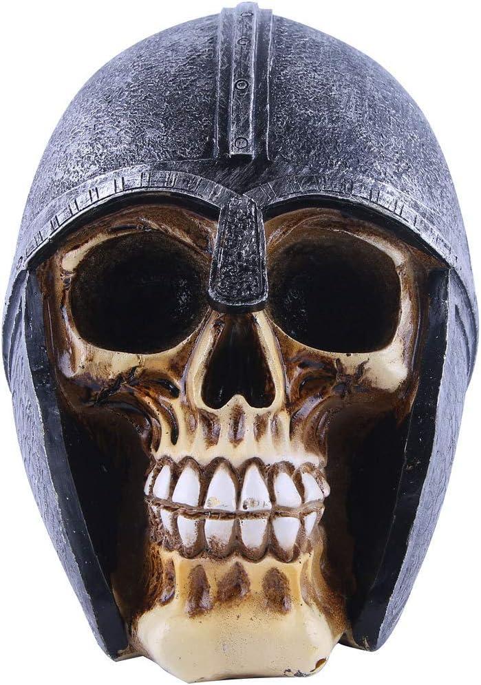 Estatua de cabeza humana con casco VOANZO color negro