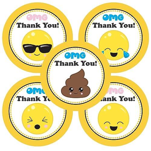 Adorebynat Party Decorations - EU Emoji Gracias etiqueta ...