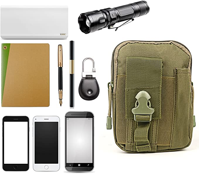 Bulldog EDC Mobile Smart Phone Admin Utility Belt MOLLE POUCH Titulaire Vert Olive