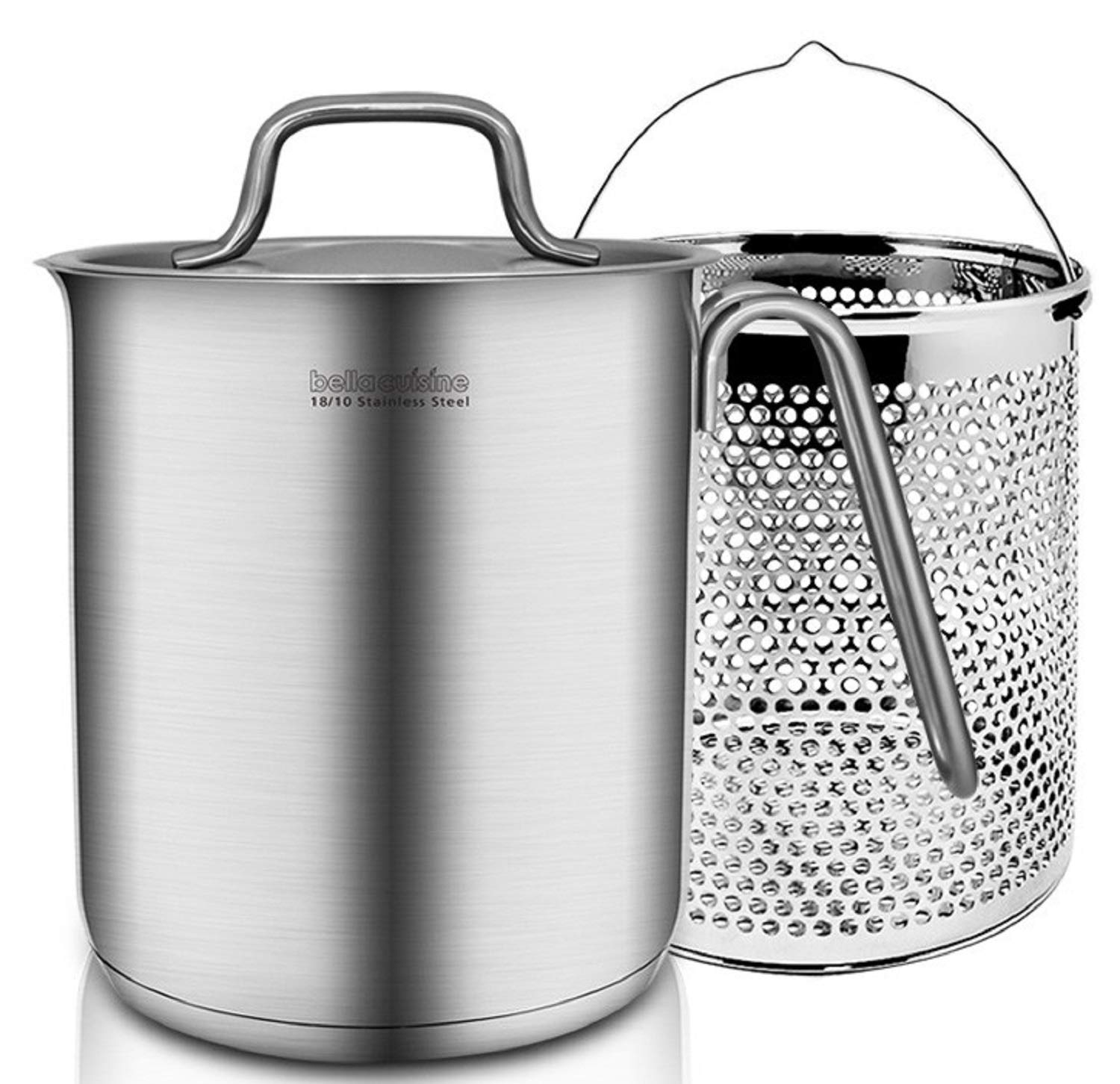 Bella Cuisine Stainless Steel Pasta Pot Multipot Steamer 3.5L 16cm with Strainer Induction Range available