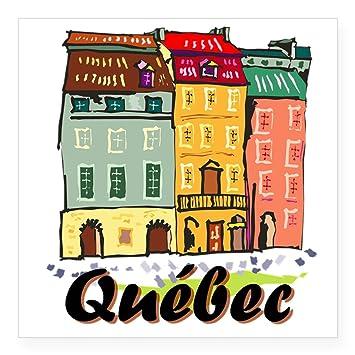 Cafepress quebec city sticker square bumper sticker car decal 3x3