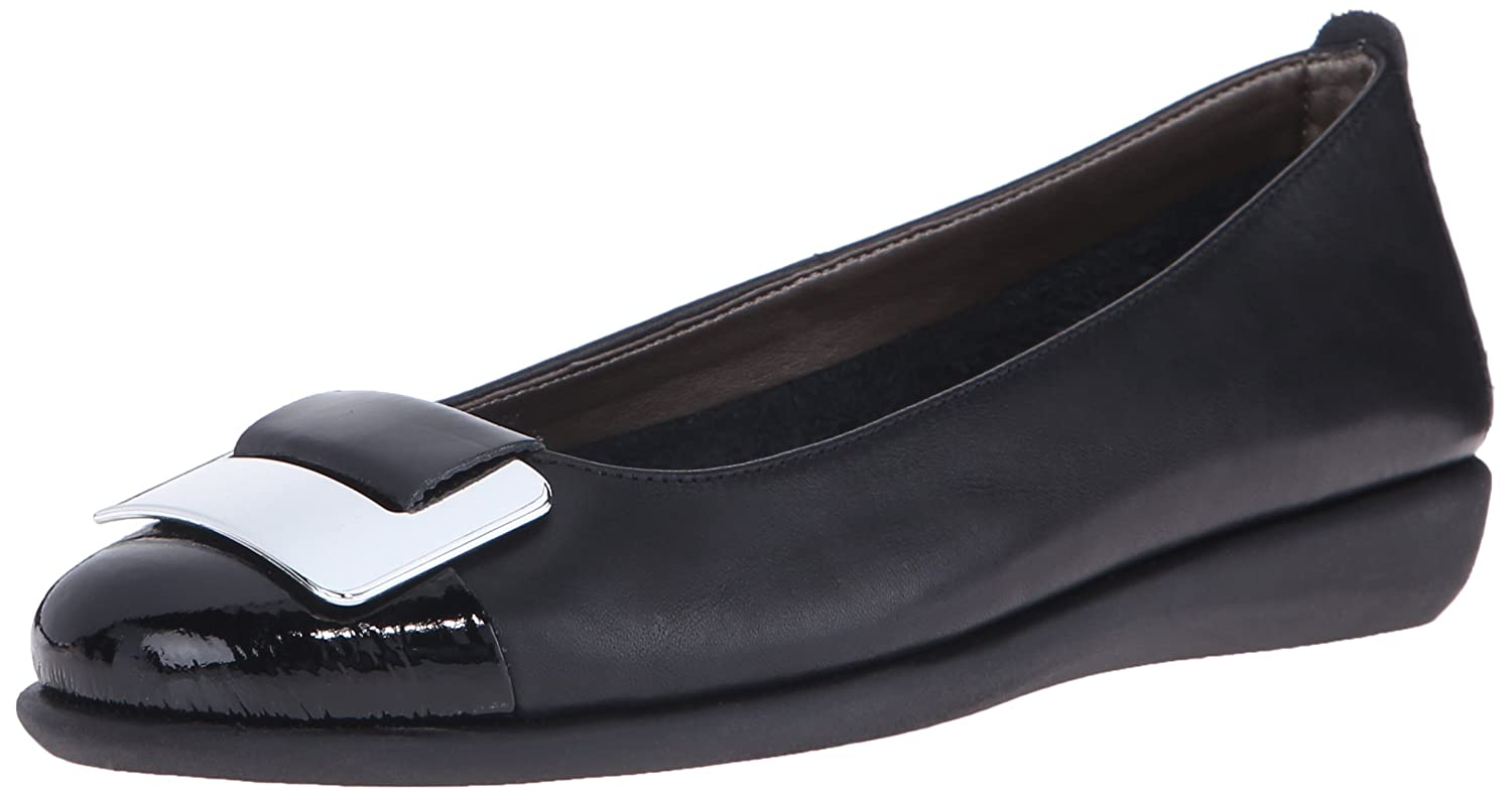 The FLEXX Women's Rise N Curry Ballet Flat B0125TP080 7 B(M) US|Black/Black Cashmere/Lapo