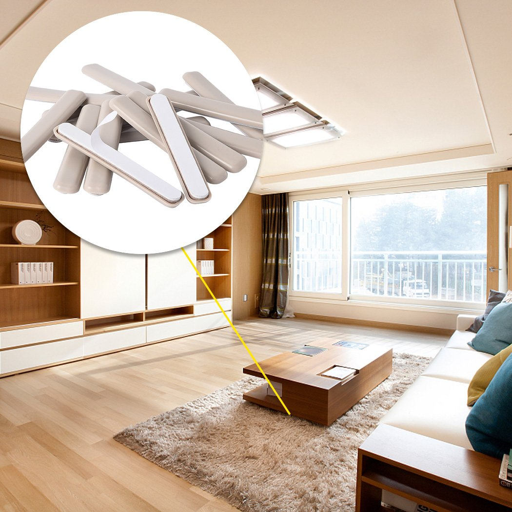 """16Pack Self-Stick Furniture Sliders 1/2\""""x 4\"""" Furniture Moving Pads Heavy Duty Adhesive Furniture Slider for Carpet"""