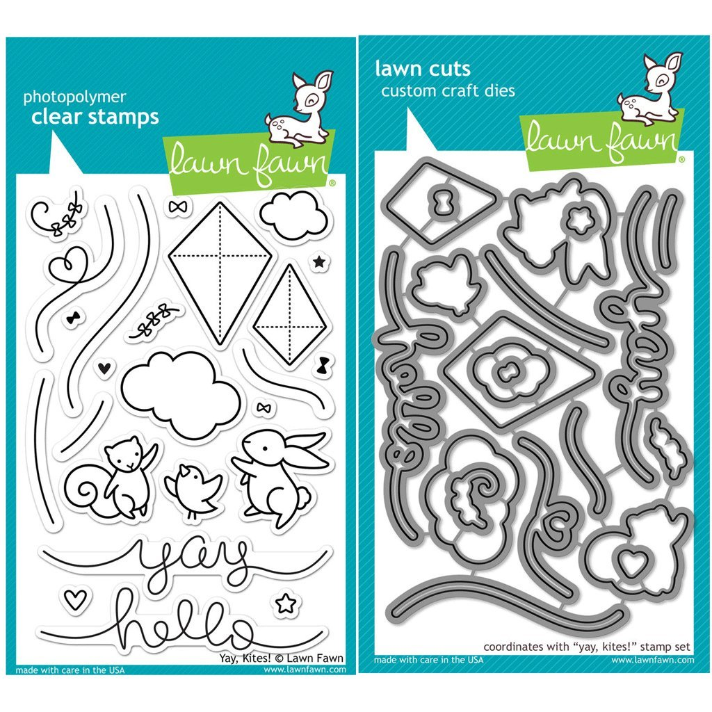 Amazon.com: Lawn Fawn Yay, Kites! Stamp (LF1169) and Die (LF1170 ...