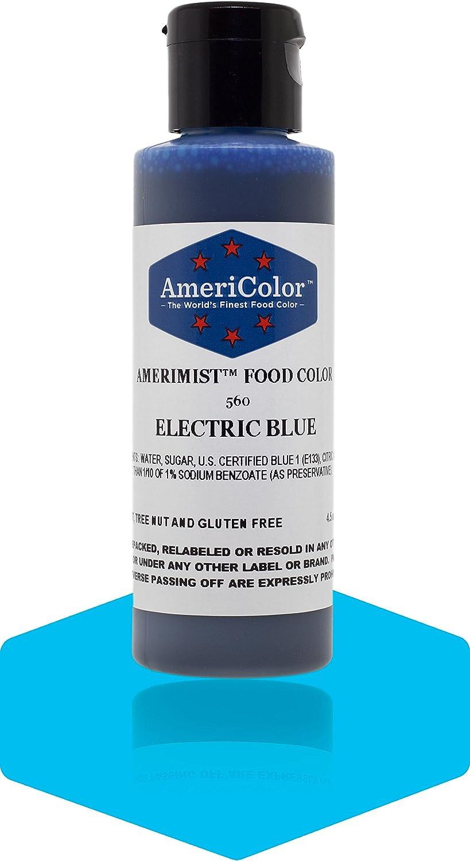 Badger Air-Brush Company AC-560 Americolor Amerimist 4-1/2-Ounce Edible Airbrush Ready Food Color, Electric Blue