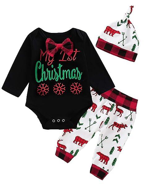 Amazon.com: Dramiposs – Conjunto de Navidad para bebé, niño ...
