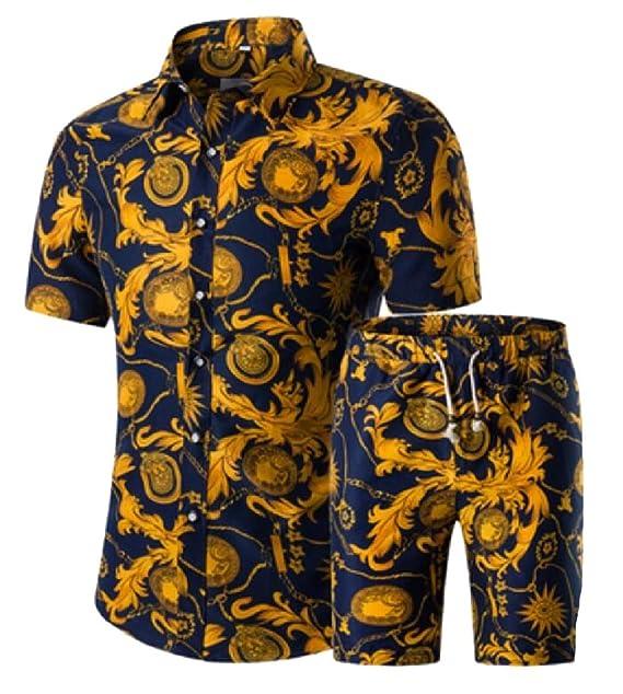 BingSai - Chándal para Hombre (algodón y Lino, diseño étnico) 8 US ...