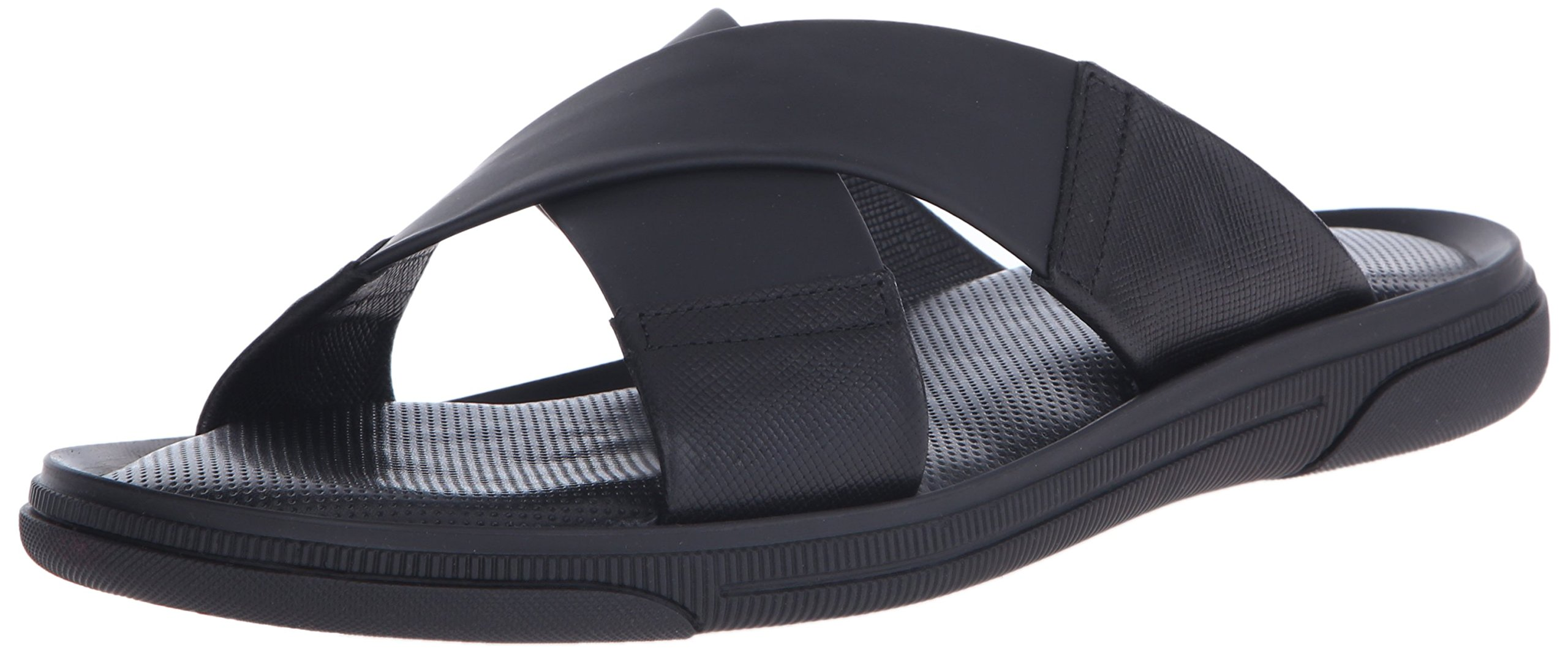 To Boot New York Men's Bridge Slide Sandal, Vitello Saff Crust/Nero/Tech Pro, 8.5 M US