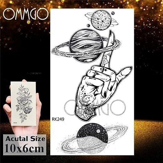 Handaxian 3pcs Femenina engomada del Tatuaje del Planeta Cerebro ...