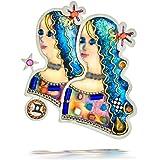 Seeka Youthful Gemini the Twins Zodiac Pin from The Artazia Collection P0906