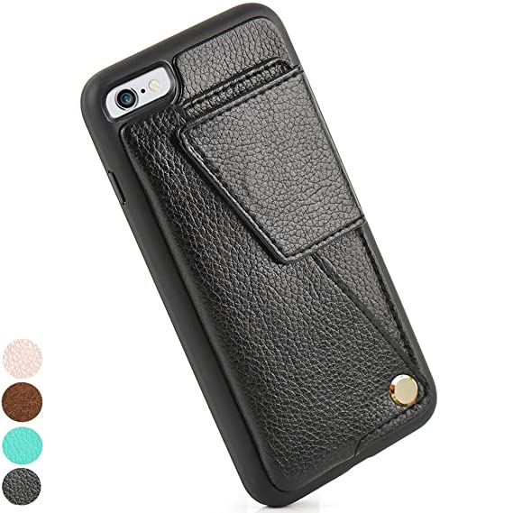 new concept 4ae41 17baf iPhone 6S Plus Wallet Case, ZVEdeng iPhone 6 Plus Card Holder Case, Durable  Shockproof iPhone Leather Case with Credit Card Slot for iPhone 6 Plus / ...