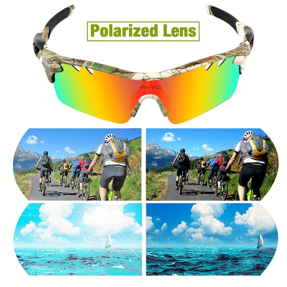 264ff0b1849 AKASO Men s Chameleon Multisport Polarized Sunglasses with 5 ...