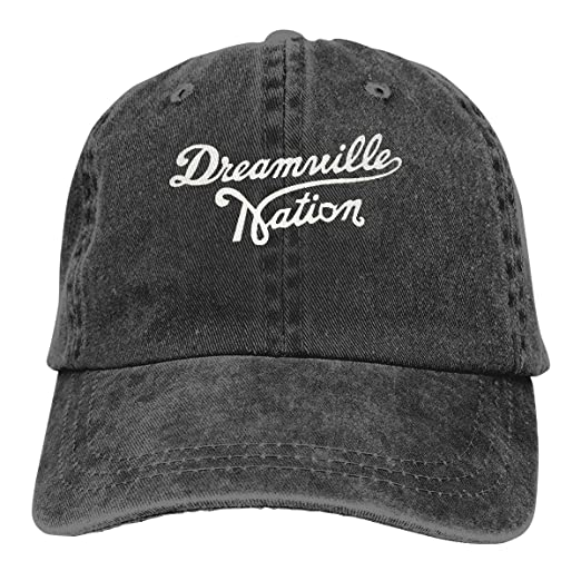 b4e141e159a Custom Dreamville Records Logo Adult Cowboy Hat Baseball Cap Adjustable  Athletic Customized Awesome Hat at Amazon Men s Clothing store