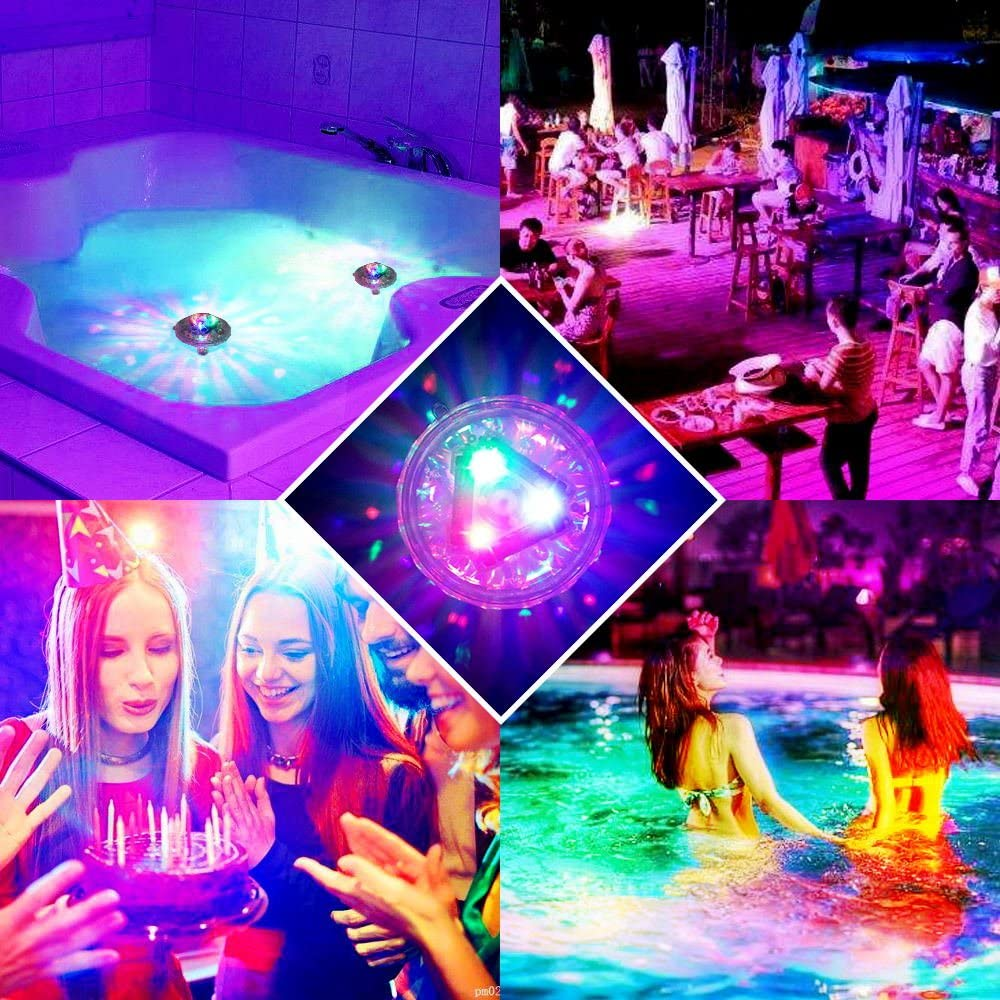 B07DRBJG4P EOSAGA Waterproof Swimming Pool Lights, Baby Bath Lights for The Tub(7 Lighting Modes), Colorful LED Bath Toys Bathtub for Pool, Pond, Hot tub or Party Decorations 61XOkjBMWfL