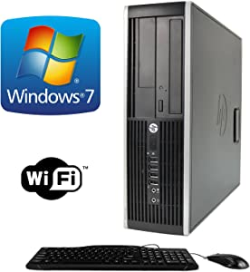 HP Elite 8000 Small Form Factor Desktop Complete Computer Package with Intel Core 2 Duo 3.0GHz - 8GB RAM - 500GB HDD- DVD ROM- Windows 7 Pro 64-Bit - Keyboard, Mouse + WiFi USB Adapter