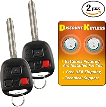 Replacement For 2007 2008 Toyota FJ Cruiser Key Fob Remote