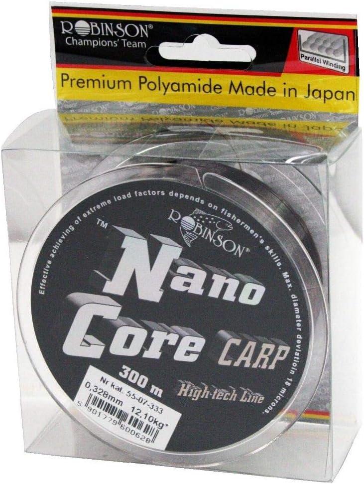 Robinson NanoCore Carp Fil de p/êche /à la Carpe Feeder Monofile 300 m