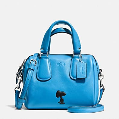 31eb5b4fb5a1 Image Unavailable. Image not available for. Color  COACH X Peanuts Snoopy  Mini Surrey Satchel Bag Limited Edition