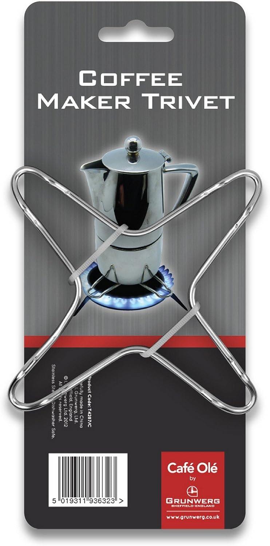 Compra Café Ole Salvamanteles para encimera, cafetera, Espresso, Acero Inoxidable, 9.5 x 9.5 x 0.6 cm en Amazon.es