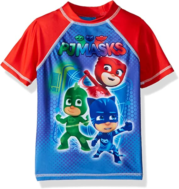 Dreamwave Toddler PJ Masks Boys Swim Trunks and Rash Guard Set