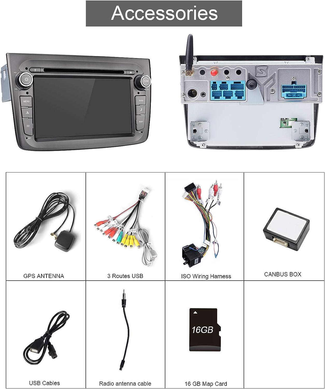 Aumume Android 9 0 Grau Autoradio Für Alfa Romeo Mito Elektronik