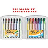 BIC® - Mark-It Permanent Markers, Fine Point and Ultra Fine Point, Assorted Colors, 36/Set - Sold As 1 Set - Bright, fun, smooth and fashionable.
