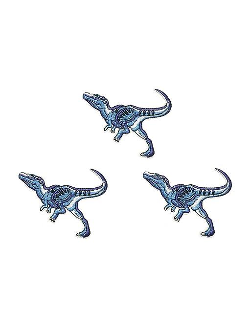 Parche bordado de hierro cosido con diseño de dinosaurio de ...