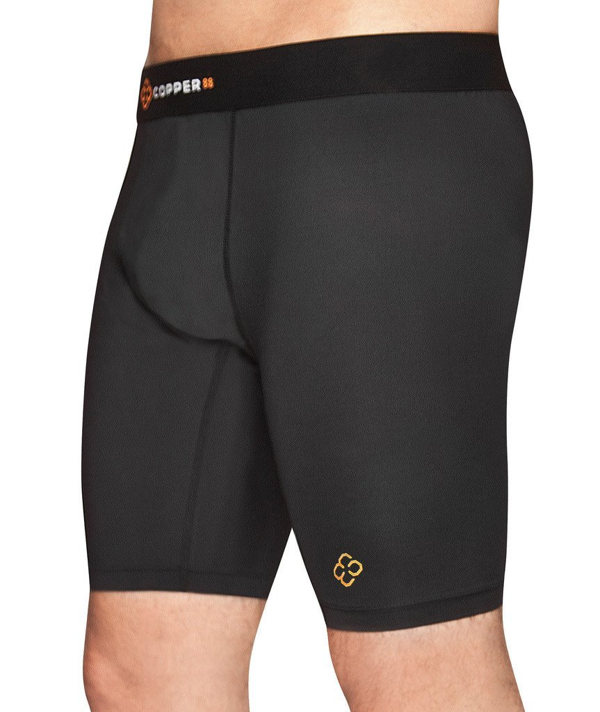 Copper 88 Mens Compression Shorts with 88% Copper Fiber Embedded Nylon to Aid in Recovery & Pain Relief (Small)