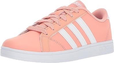 adidas Baseline, Basket Mixte Enfant, Trace Rose Blanc Blanc