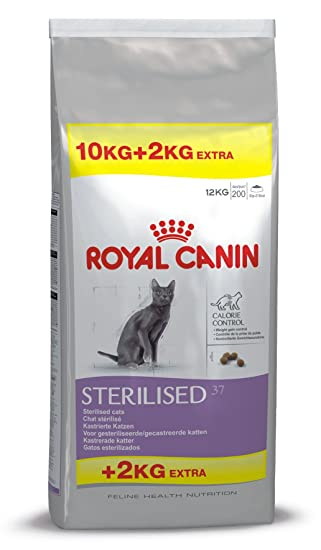 ROYAL CANIN Feline Health Nutrition Sterilised 37 Saco DE 10 + 2 Kg: Amazon.es: Productos para mascotas